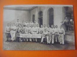Carte Photo Militaria -Soldats Soldaten-Guerre Krieg- COBLENCE ( Koblenz ) Libérable Armée Du Rhin Caserne -Baracke 1927 - Koblenz