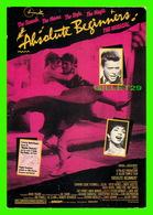 """AFFICHES DE CINÉMA - FILM, THE MUSICAL, ABSOLUTE BEGINNERS - GOLDCREST FILMS & TV LTD 1986 - EDIT """" HUMOUR À LA CARTE """" - Affiches Sur Carte"""