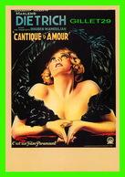 """AFFICHES DE CINÉMA - FILM, """" CANTIQUE D'AMOUR """" AVEC MARLENE DIETRICH - FILM PARAMOUNT - CIRCULÉE EN 1988 - - Affiches Sur Carte"""