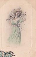 CPA Jeune Femme Debout Girl Lady Mode Chapeau Fleur Viennoise M.M. Vienne N° 276  Illustrateur  (2 Scans) - Illustrateurs & Photographes