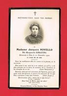 Image Pieuse ...Généalogie ... Souvenez-vous De Mme Jacques NOVELLO - DEMARTINA Rappelée En 1920 - Imágenes Religiosas