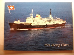 """Carte Postale M/S """" Kong Olav """"OVDS ,Narvik ,Norway  (Format 10,5 X15 Cm Couleur Non Circulée) - Steamers"""
