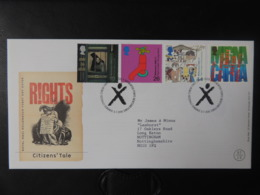 GB 1999 FDC - Citizens' Tale Newtown Postmark First Day Cover Votes For Women Children Human Rights - 1991-2000 Decimal Issues
