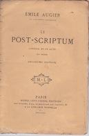 1869 EMILE AUGIER, POST-SCRIPTUM, MICHEL LÉVY. - Livres, BD, Revues