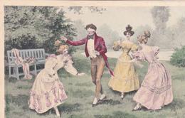 CPA Jeunes Gens Jouant à Colin-Maillard Jeu Lady Girl Viennoise M.M. Vienne N° 152  Illustrateur (2 Scans) - Illustrateurs & Photographes