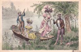 CPA Jeunes Gens Sur Une Barque Canotage Lady Girl Viennoise M.M. Vienne N° 152  Illustrateur (2 Scans) - Illustrateurs & Photographes