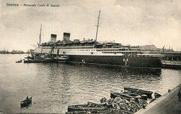 ITALIE(GENOVA) BATEAU PAQUEBOT - Passagiersschepen