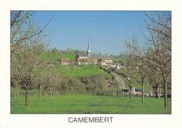 61 Camembert Vue Générale Du Village (2 Scans) - Francia