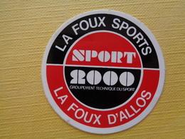 AUTOCOLLANT LA FOUX SPORTS, SPORTS 2000 - Stickers