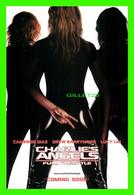 """AFFICHES DE CINÉMA - """" CHARLIE'S ANGELS  """" FULL THROTTLE IN 2003 - CAMERON DIAZ, DREW BARRYMORE, LUCY LIU - - Affiches Sur Carte"""