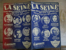 LA SEINE GRAND PRIX DE LA CHANSON FRANCAISE 1948 POEME DE FLAVIEN MONOD & GUY LAFARGE MUSIQUE DE  GUY LAFARGE 1948 - Partitions Musicales Anciennes