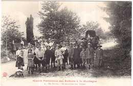 CPA NIEVRE.EN MORVAN.EN EXCURSION AUX SETTONS.OEUVRE PARISIENNE DES ENFANTS A LA MONTAGNE - Altri Comuni