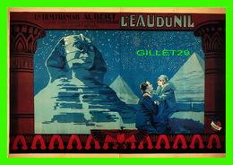 """AFFICHES DE CINÉMA - """" L'EAU DU NIL """"  DE MARCEL VANDAL EN 1928 - GAUMONT PRÉSENTE - DISTRIBUTION, F. NUGERON - RAMSAY - - Affiches Sur Carte"""