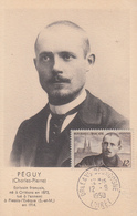 Carte  Maximum   FRANCE    Charles  PEGUY    ORLEANS    1950 - 1950-59