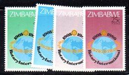 APR1486 - ZIMBABWE 1980 , Serie Yvert N. 17/20  ***  MNH  (2380A) ROTARY - Zimbabwe (1980-...)