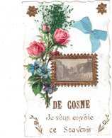 CPA NIEVRE.DE COSNE JE VOUS ENVOIE CES FLEURS.CARTE AVEC RAJOUTS - Cosne Cours Sur Loire