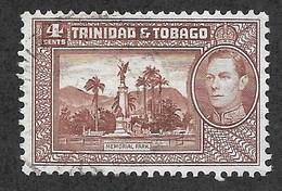 Trinidad & Tobago,  Scott 2018 # 53,  Issued 1938  Single,  Used,  Cat $ 3.25 - Trinidad & Tobago (...-1961)