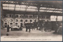 Tours , Intérieur De La Gare , Les Quais , Animé - Tours