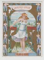 BO /  LU  Gaufrette Vanille  ,  LEFEVRE UTILE , FILLE FLEUR  L'ARUM , Art Nouveau , G. BUSSIERE - Lu