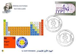 DZ Algeria 1836 2019 Anno Internazionale Della Tavola Periodica Degli Elementi Chimici Dmitry Mendeleev Chimica Argo - Chimica