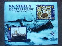 1999  S.S. STELLA 100 Years Below   ** MNH - Alderney