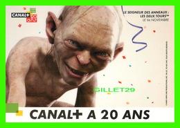 """SÉRIE TV - """" CANALPUS A 20 ANS """" - 1984-2004 - LE SEIGNEUR DES ANNEAUX : LES DEUX TOURS - - Séries TV"""