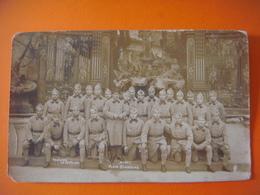 Carte Photo MILITARIA - Soldats Guerre - France - Meurthe Et Moselle - Fontaine De Neptune Place Stanislas à NANCY - Nancy
