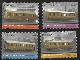 V) 2007 POLSKA, RAILWAY IN POLAND, WAGONS, MNH - 1944-.... Republic