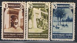 (ME 198) MARRUECOS // YVERT  302, 303, 304 // 1940 - Marruecos Español