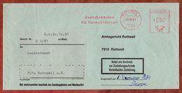Zustellungsurkunde, Absenderfreistempel, Justizbehoerden, 0 Pfg, Rottweil 1981 (75361) - [7] République Fédérale
