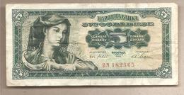 Jugoslavia - Banconota Circolata Da 5 Dinari P-77a - 1965 - Jugoslavia
