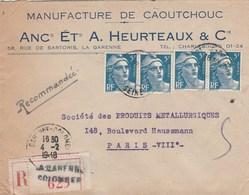 Marianne De Gandon : Lettre Reco 4-2-48 - Marcophilie (Lettres)