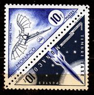 MONACO  1053 POSTAGE DUE  LEONARDO DA VINCI + ROCKET   MNH          SPACE - Monaco