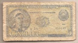 Romania - Banconota Circolata Da 5 Lei P-83b - 1952 - Romania