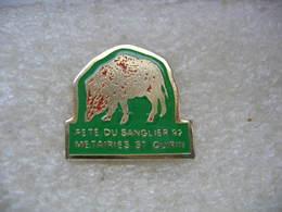 Pin's De La Fête Du Sanglier En 92 Aux Métaieries De St Quirin (Dépt 57) - Animali
