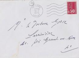 40 - LANDES - 40.AMOU - SECAP - 1974 - - Poststempel (Briefe)
