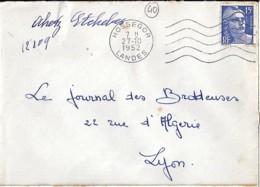 40 - LANDES - HOSSEGOR - SECAP - 1952/63 - Poststempel (Briefe)