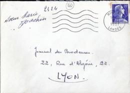 40 - LANDES - MIMIZAN - SECAP - 1957 - Poststempel (Briefe)