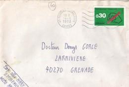 40 - LANDES - 40.MONFORT EN CHALOSSE - SECAP - 1973 - - Poststempel (Briefe)