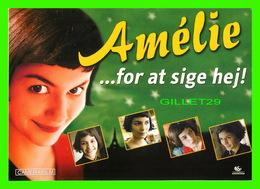 """AFFICHES DE CINÉMA - """" AMÉLIE """" - FOR AT SIGE HEJ ! - NEWBIE CARD 2002 - - Affiches Sur Carte"""