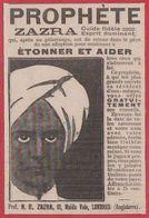 Prophète Zazra. Voyant. 1914. - Publicités