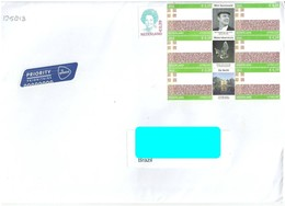 NETHERLAND To Brazil Cover Sent In 2013? With 7 Stamps - None Cancel Mark (GN 0200) - 2013-... (Willem-Alexander)