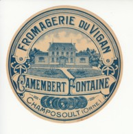 Etiquette De Fromage Camembert - Vigan - Champosoult - Orne. - Fromage