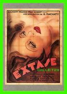"""AFFICHES DE CINÉMA - """" EXTASE """" - FILM DE GUSTAV MACHATY 1933 - F. NUGERON - GAUMONT PRÉSENTE - EDIT, RAMSAY - - Affiches Sur Carte"""