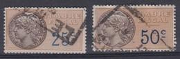 FRANCE FISCAUX :  2 Timbres De 25c. Et 50c, , Oblitérés - Fiscale Zegels