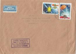 URSS - LETTLAND 1978 - 2 Sondermarken Auf Groß-LP-Brief Gel.v. Riga > Graz - Lettland