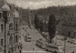 Trolleybusse,Opel Olympia,EMW,Ifa F9.Taunus 12m G13...Dresden-Blasewitz,Schillerplatz, Ungelaufen - Buses & Coaches