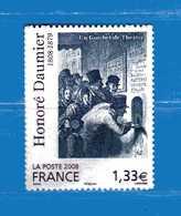 Francia ** 2008- Honoré DAUMIER. YVERT. 224.  NEUF.   Vedi Descrizione. - Adhésifs (autocollants)