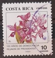 "COSTA RICA 1989 ""The 100th Anniversary Of Democracy"" Presidents' Summit. USADO - USED. - Costa Rica"