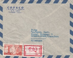 MAROC 1958? - 2 Fach Frankierung Auf Firmen-Brief Gel.v. Tanger > Sprendlingen/Frankfurt - Marokko (1956-...)
